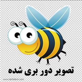 وکتور زنبور عسل کارتونی