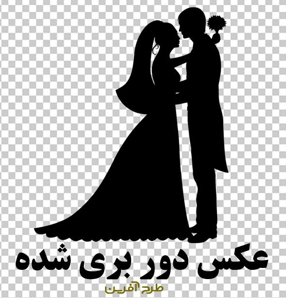 وکتور عروس و داماد با کیفیت بالا PNG