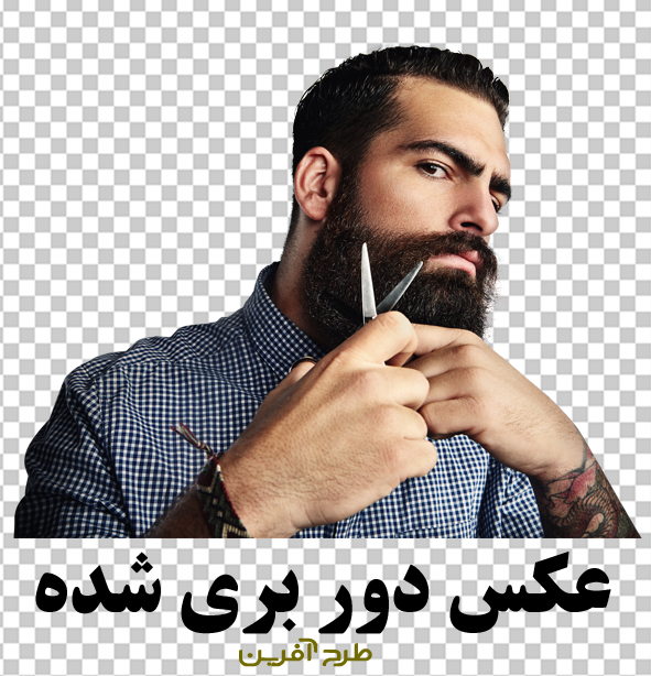طرح بنر آرایشگاه مردانه