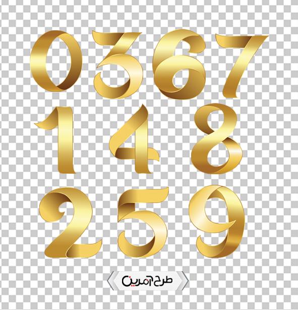 اعداد انگلیسی طلایی